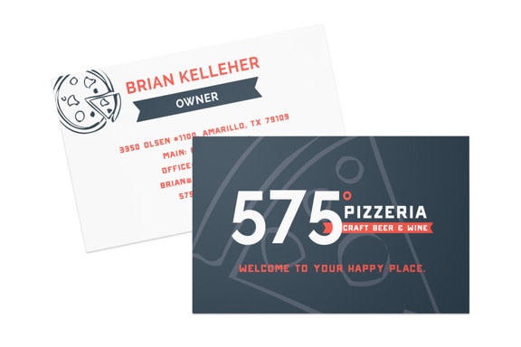 575 Pizzeria business card
