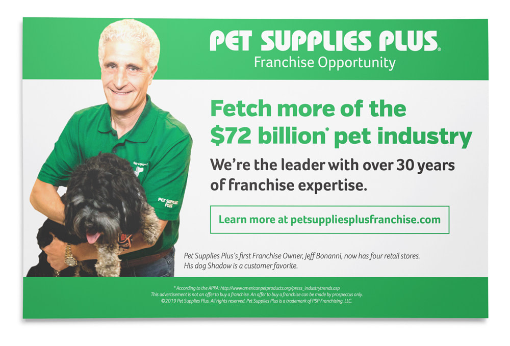 Pet Supplies Plus half page magazine ad