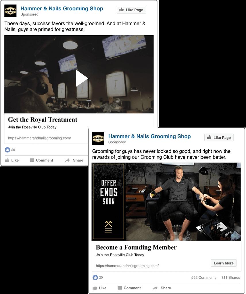 Hammer and Nails social ads