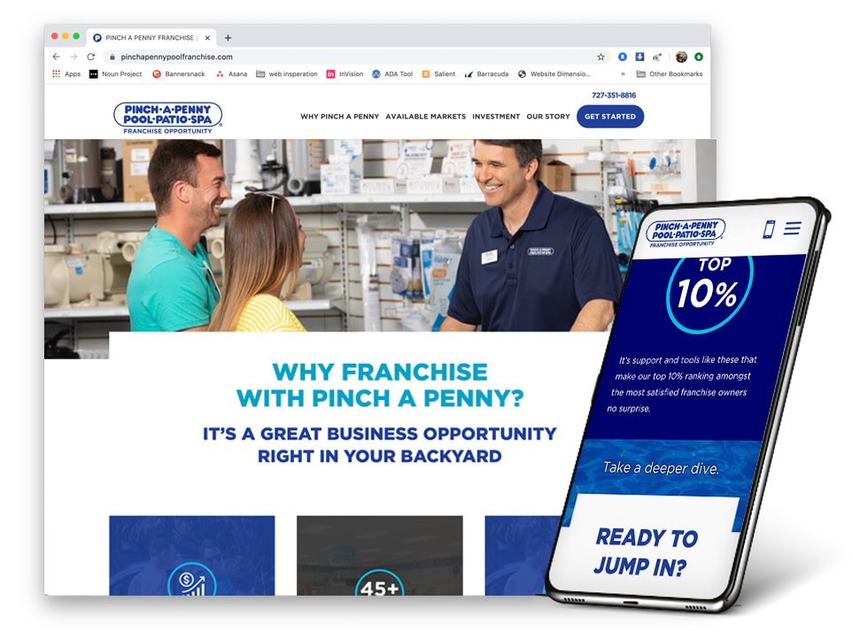 Pinch A Penny Franchise Website
