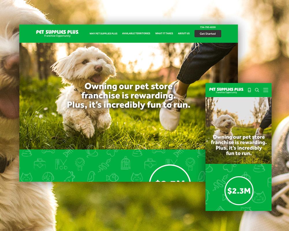 Pet Supplies Plus website