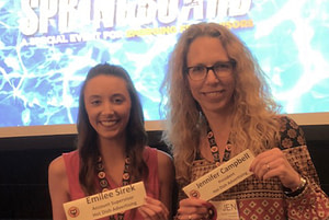 Jen Campbell and Emilee Sirek at the Springboard Conference