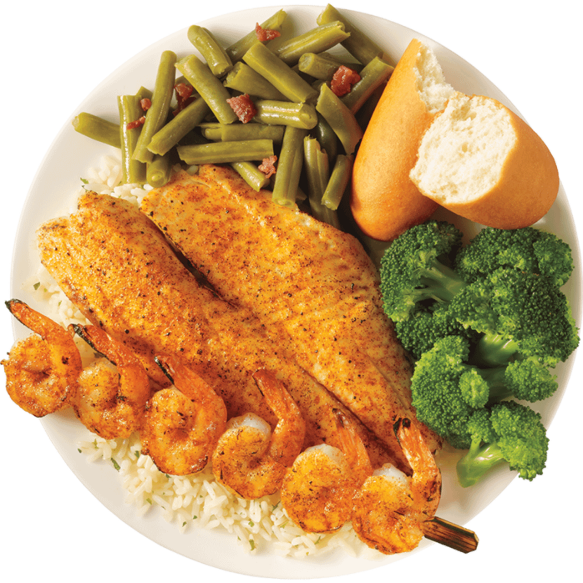 Seafood plater from Captain D's Seafood