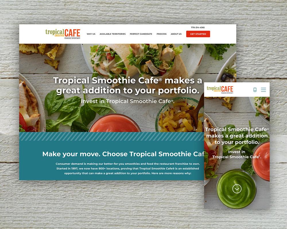 Tropical Smoothie Cafe website