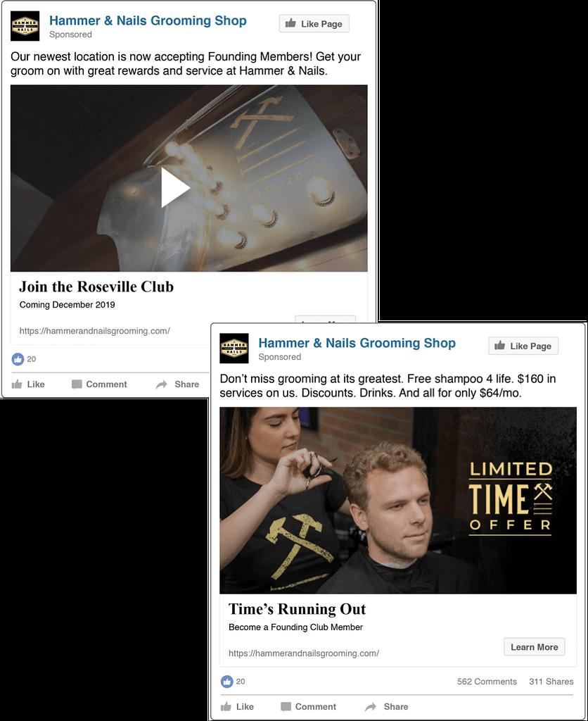 Hammer & Nails social ads