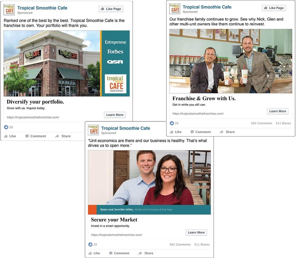Tropical Smoothie Cafe social ads
