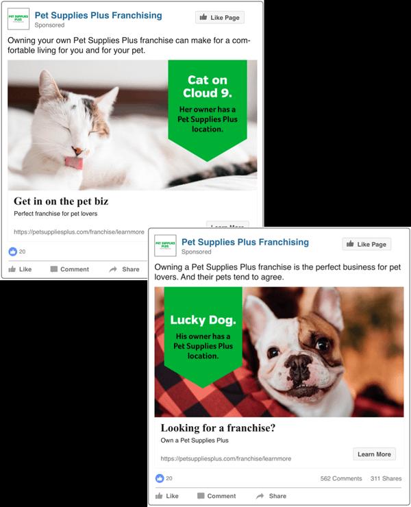Pet Supplies Plus social ad