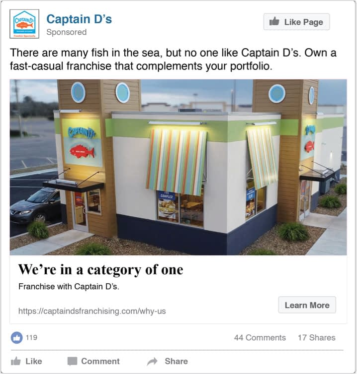Captain D's Social Advertisements