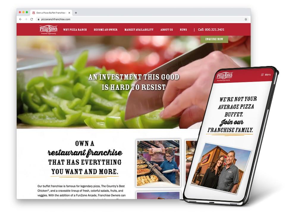 Pizza Ranch Franchise Website